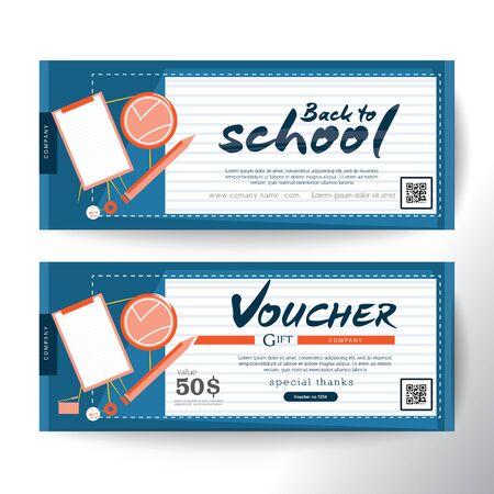 Gift Voucher concept back to school Reklamní fotografie - 46552764