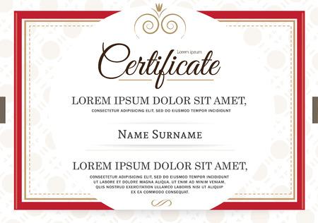 certificate template: retro frame certificate template Vector