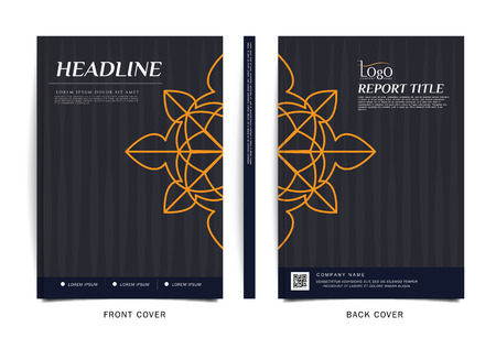 brochure cover: Vector design for Cover Report, Brochure, Flyer, Poster in A4 size Illustration