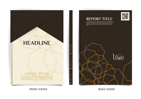 report icon: Vector design for Cover Report, Brochure, Flyer, Poster in A4 size Illustration