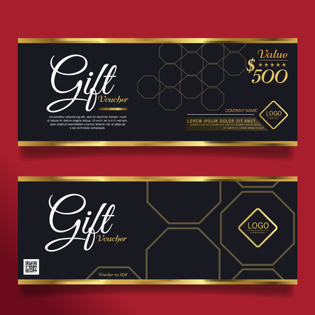vip design: Gift voucher gold template