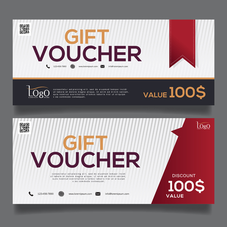 gift: gift Voucher template Illustration