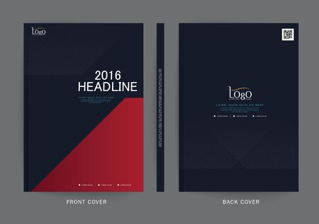 Vector design for Cover Report, Brochure, Flyer, Poster in A4 size Ilustrace
