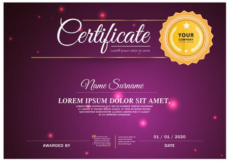 certificate template: Certificate Card, Vector certificate template. Illustration