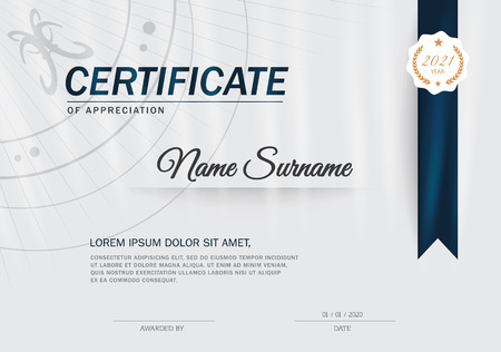 Certificate of achievement frame design template Imagens - 52186927