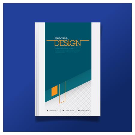 Plantilla de diseño de portada de folleto comercial en tamaño A4 con fondo de plantilla de diseño