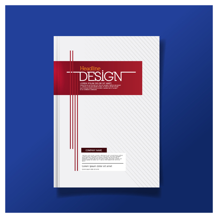 Business brochure cover design layout template in A4 size design template background