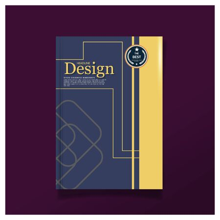cover: Business brochure cover design layout Colorful template in A4 size, with design template background