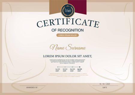 certificate template: Certificate of achievement frame design template Illustration
