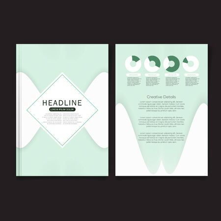 premier: Business brochure flyer cover design layout template in A4 size, with Premier design template background, vector eps10.