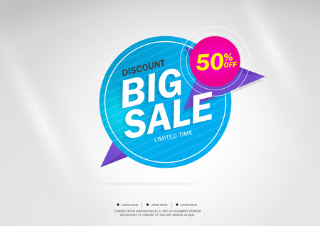 50 off: Big Sale and special offer. 50% off. Vector illustration.Theme color.