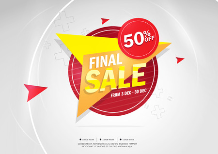 50 off: Final Sale and special offer. 50% off. Vector illustration.Theme color. Illustration