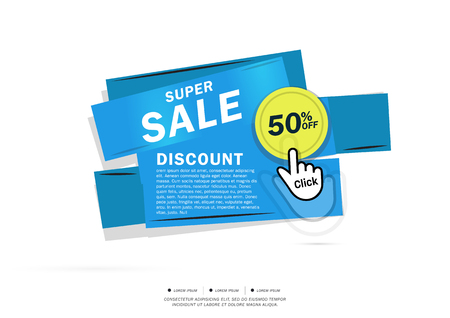 50 off: Super Sale and special offer. 50% off. Vector illustration.Theme color.