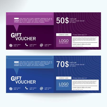 Gift Voucher Premier Cards, Business Cards.Gift voucher template with premium Ilustração