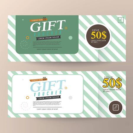 Gift Voucher Premier Cards, Business Cards.Gift voucher template with premium Illustration