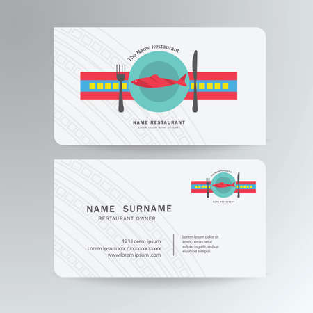 Business card template,watercolor styles, High quality design
