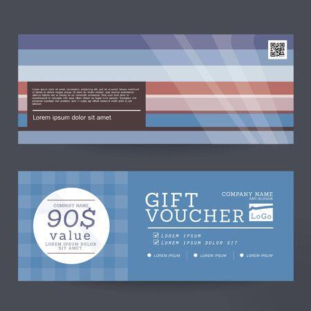 Gift Voucher Premier Color Design concept for gift coupon, invitation, certificate, flyer, banner, ticket.