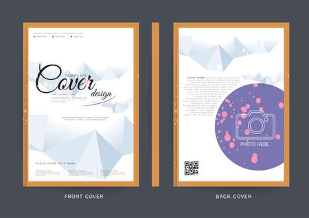 Business brochure flyer cover design layout template in A4 size, with Premier design template background