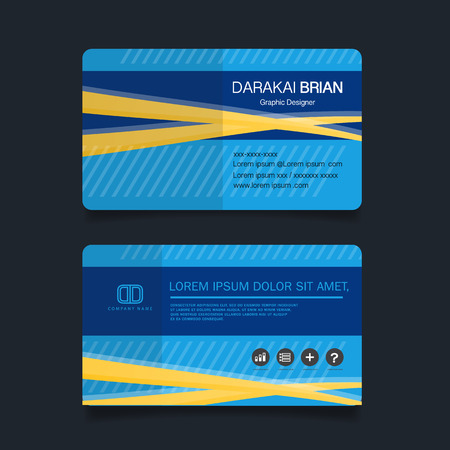 Modern simple business card template. Vector illustration