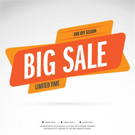 Orange Big Sale and special offer. Vector illustration.Theme Orange color.