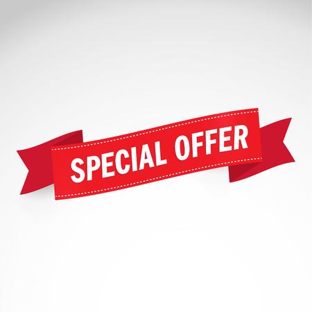 Special offer. 50% off. Vector illustration.Theme color. Ilustração