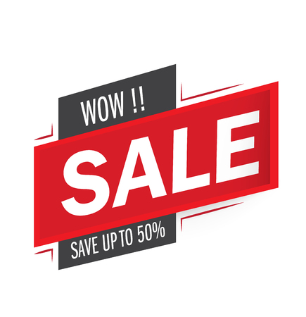 WOW Sale and special offer. 50% off. Vector illustration.Theme color.