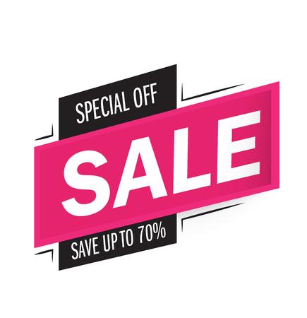 Sale and special offer. 70% off. Vector illustration.Theme color. Ilustração