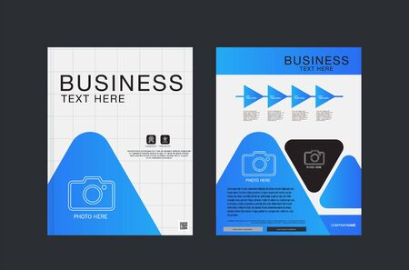 Brochure report business magazine poster template. Flyers design template vector.Cover book presentation Layout design on brochure background.A4 size