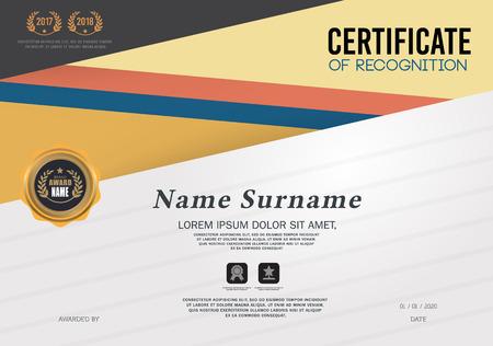 Certificate Frame Design Template, Geometric triangle pattern Ilustrace