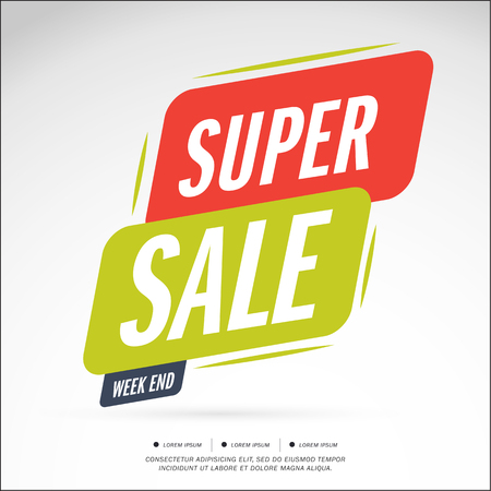 Super Sale and special offer. 50% off. Vector illustration.Theme color.
