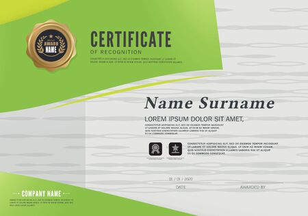 Certificate design template layout template in A4 size