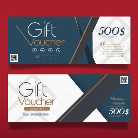 Gift voucher template, Background design coupon Vector illustration.