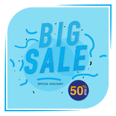 Icon Sale and special offer. 50% off. Vector illustration.Theme color. Imagens - 74594011