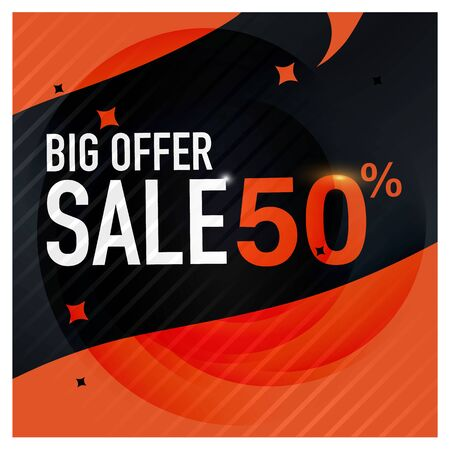 Icon Sale and special offer. 50% off. Vector illustration. Imagens - 76867747