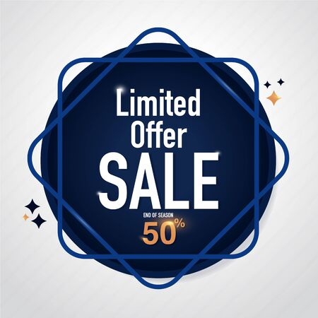 Icon Sale and special offer. 50% off. Vector illustration. Imagens - 76867750
