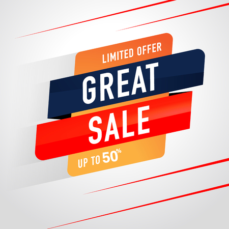 Great Sale Icon Sale and special offer. 50% off. Vector illustration. Ilustrace