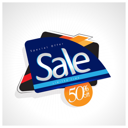 Sale and special offer. 50% off. Vector illustration. Ilustrace