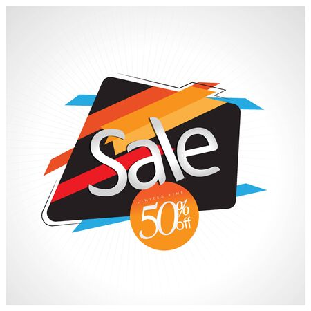 Sale and special offer. 50% off. Vector illustration. Imagens - 94760038