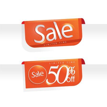 Sale Promotion tag sale. Price labels. Sale limited Time banner. Advertisement sale template. Offer icon Reklamní fotografie - 94760037