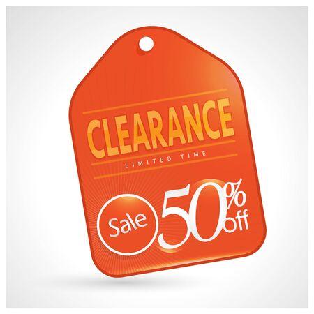 Sale 50% Clearance sale sign clearance sale design clearance sale illustration clearance sale banner clearance sale element. Reklamní fotografie - 94760159