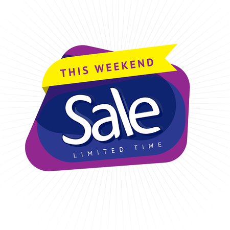 Special offer sticker sale, Promotion tag sale. Price labels. Sale limited offer banner. Ilustrace