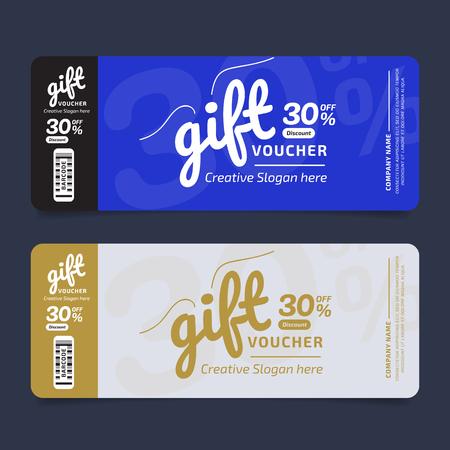 Gift Voucher Premier Voucher, Coupon template Golden, Design concept for gift coupon Ilustrace
