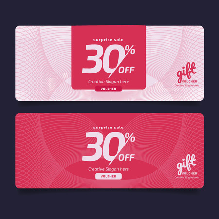 Gift Voucher, Coupon template Golden, Design concept for gift coupon Imagens - 125780572