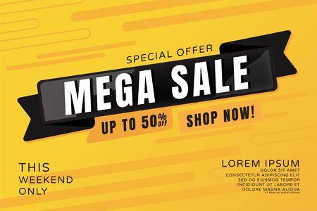 Sale banner template design, Special Offer 50% Off This Weekend Only for Promotion Title Design, Vector illustration. Illusztráció