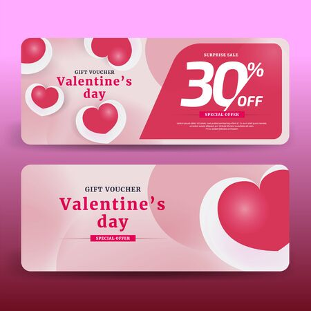 Gift Voucher Coupon discount for Happy Valentine's Day 30 % offer