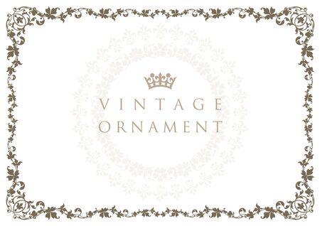 Vintage ornament. Decoration Flourish. Frame.  イラスト・ベクター素材