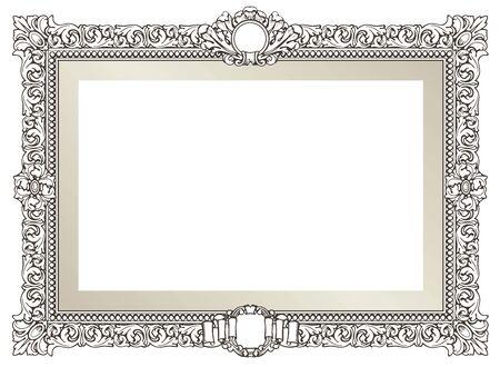 Vintage ornament. Decorative flourish frame.