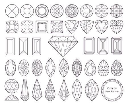 Various cut gems
