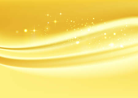 Golden drape. Streamlined abstract background material