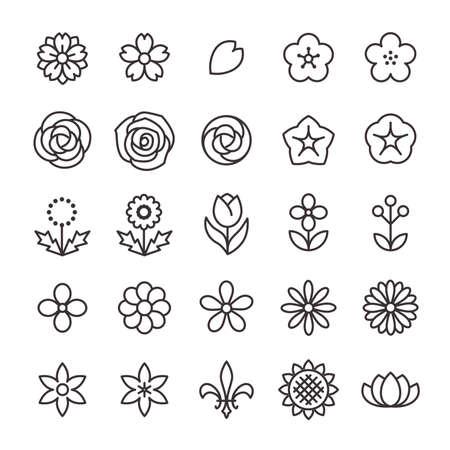 25 Icon Set No.17 (Flower)